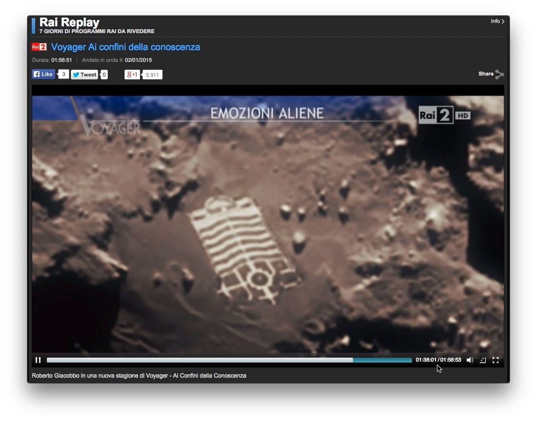 """Ultime Notizie. Befana Voyager e la """"base aliena"""" sulla cometa, bufala scoperta da Attivissimo"""