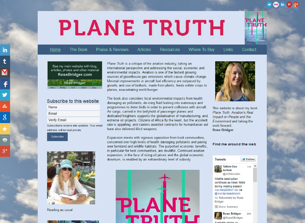 Plane Truth book website