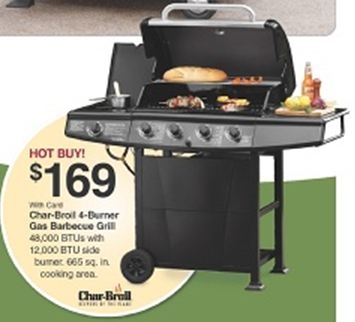 charbroil 4burner gas grill 152 at fryu0027s marketplace