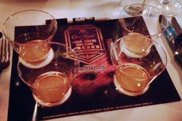 The blogger's first challenge consisted of a whiskey tasting. #crownheroes #jww400 #reignon #nascar