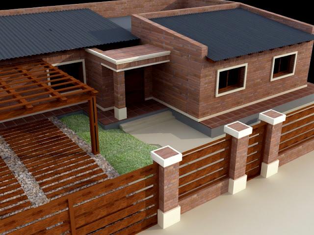 Casa de ladrillos vistos en rold n santa fe duan construcciones y servicios srl - Ladrillos a la vista ...