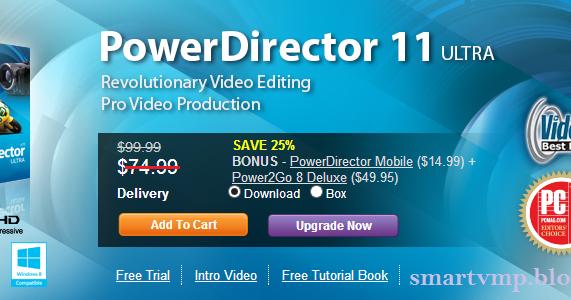 cyberlink powerdirector 11 trial version free download