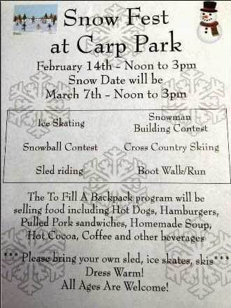 2-14 Snow Fest At Carp Park