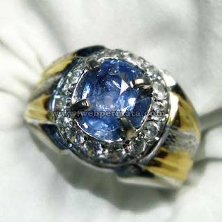 cincin sapir, batu blue safir, permata sapphire
