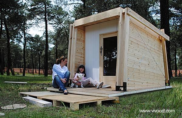 Arquitectura de casas m todos t cnicas y sistemas de - Casas de madera pequenas ...