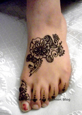 Mehndi Designs For Foot and legs : Eid And Wedding Collection Of Latest Mehandi Patterns Styles For Indian, Pakistani And Arabic Bridals and women