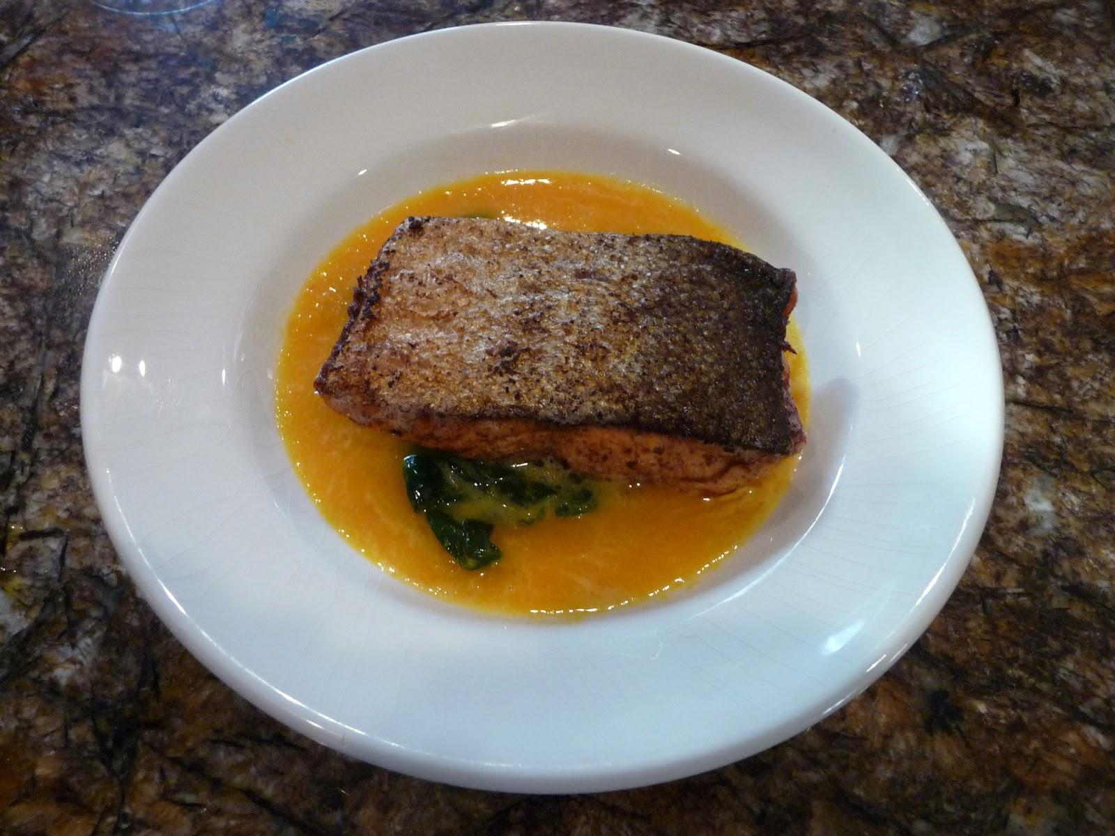 Chef Bolek: Copper River Sockeye Salmon with an Orange-Saffron Sauce