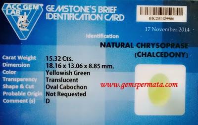 Cincin Chrysoprase Bermemo - A360