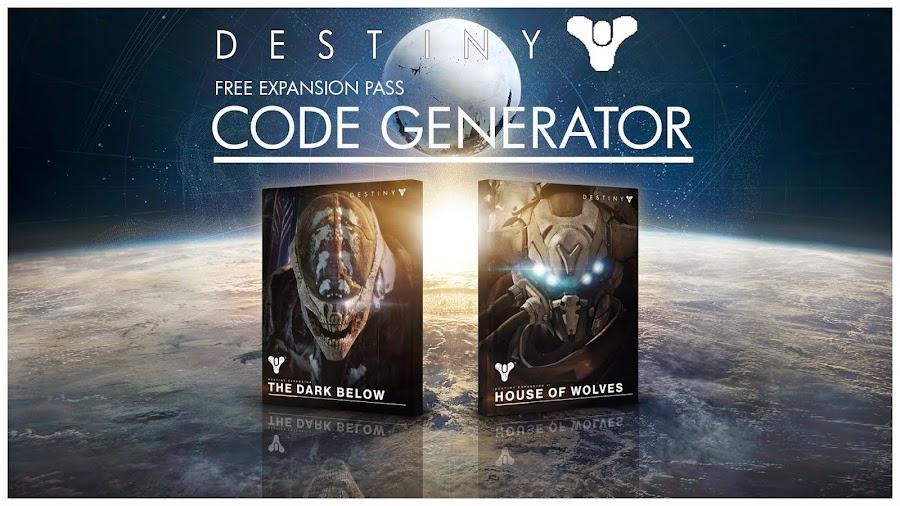 Destiny quot expansion pass quot dlc redeem codes on xbox 360 one ps3