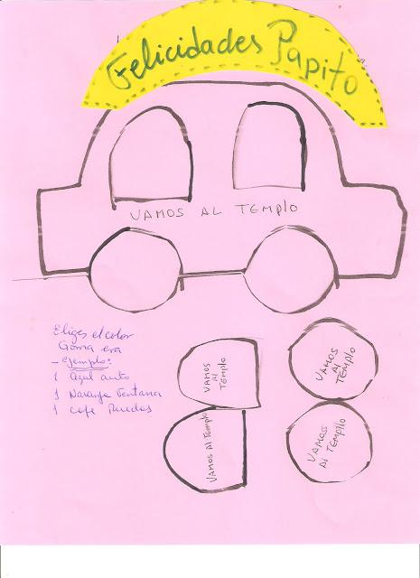 Molde de auto cars en goma eva - Imagui