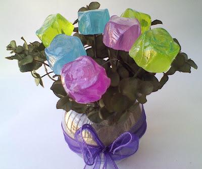 Arreglo floral/jabón