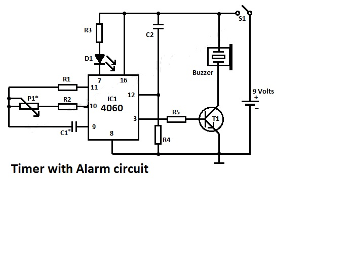 timer alarm circuit diagram