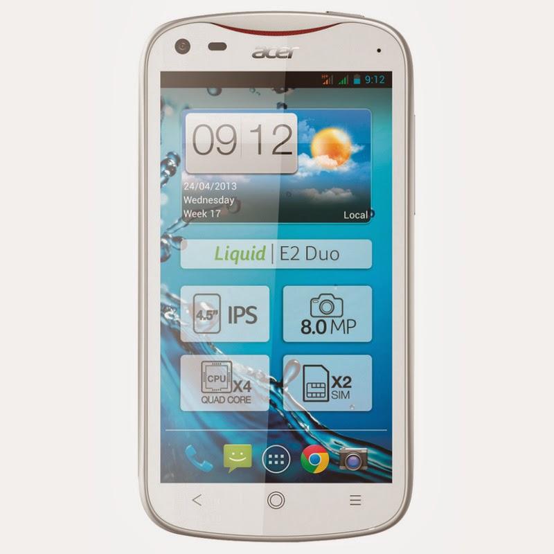 Spesifikasi Dan Harga Acer Liquid E2 White Terbaru