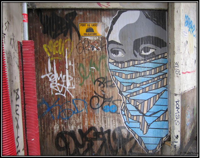 street art Beaubourg indien cheyenne urbaine indian outlaw