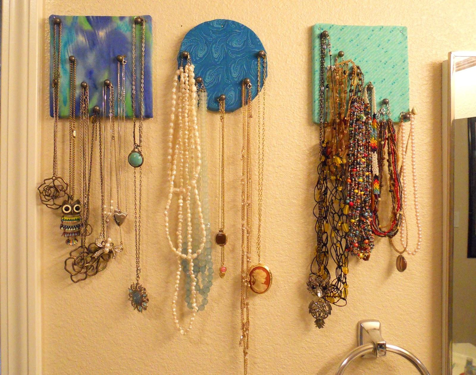Corner Window Crafts Fabric Covered Cork Necklace Display