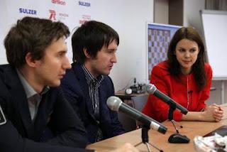 Sergey Karjakin et Teimour Radjabov interviewés par Anastasiya Karlovich
