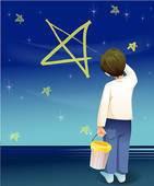 vsako noč ti pišem, z zvezdami, na nebo. │ ti spiš. │ ko se zbudiš, nočnega neba ni več.