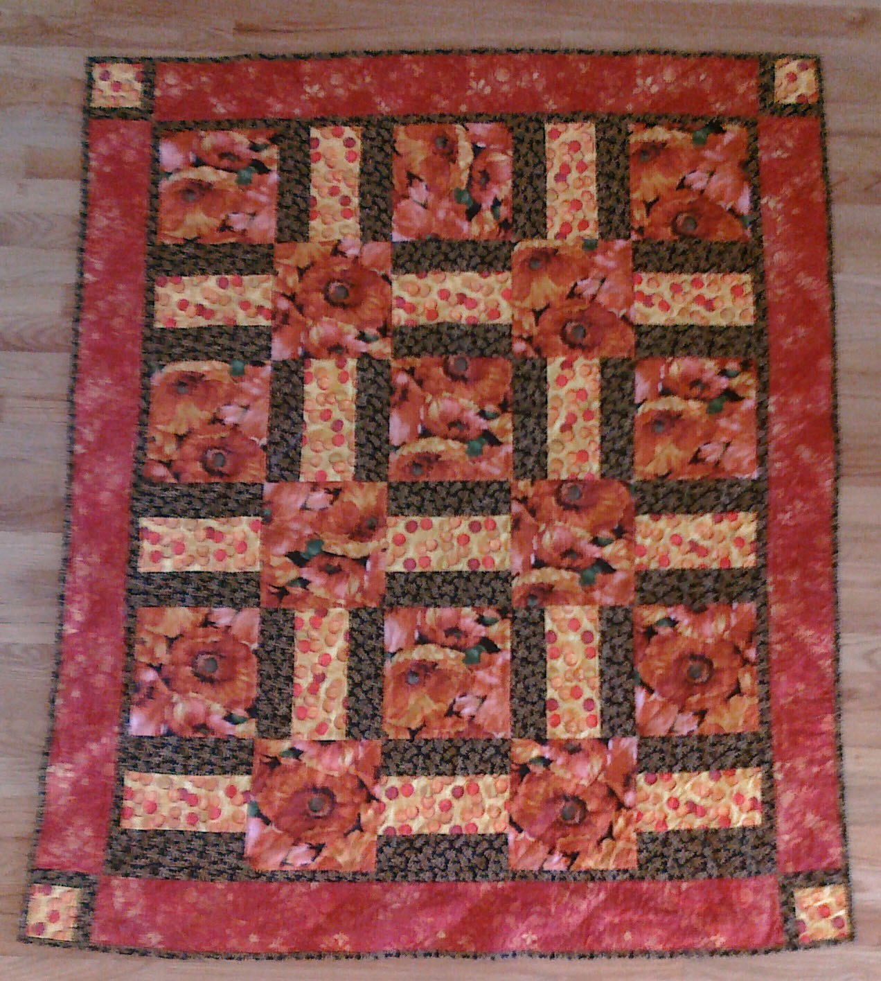 Free Quilt Patterns For Large Prints : Creative Expressions: Large Print Quilts