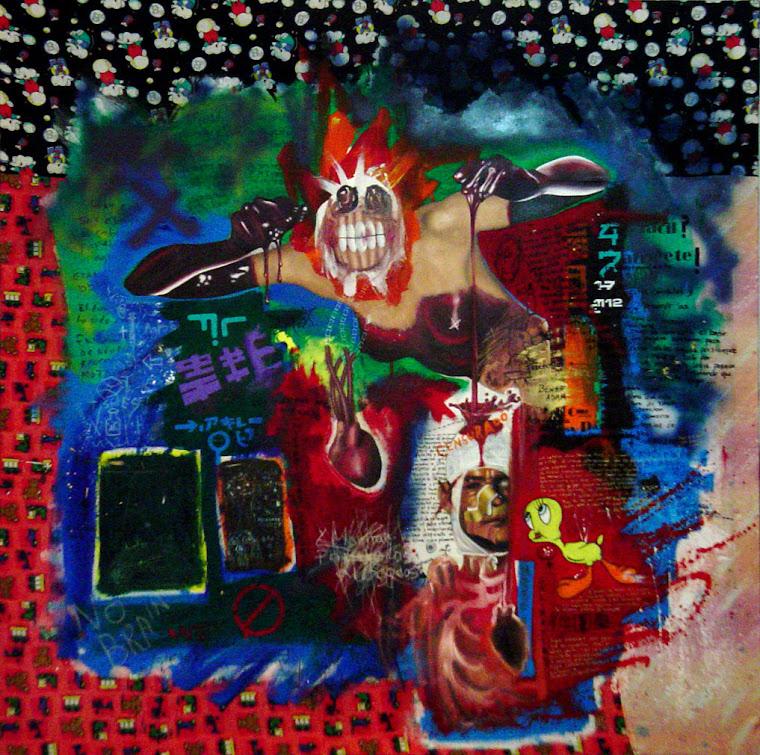 """perifrasis de """"dialogo con la juventud"""" de Martin Kippenberger"""