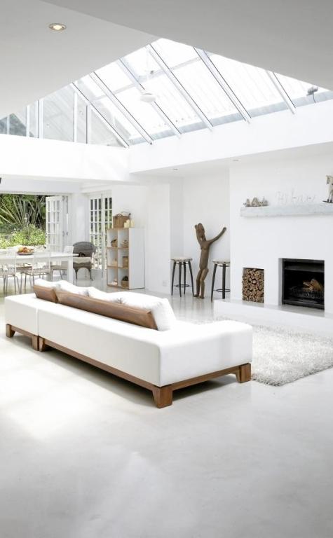 relaxing open plan white house 3 แบบบ้านสีขาวแสนน่าอยู่สไตล์โมเดิร์นจาก South Africa