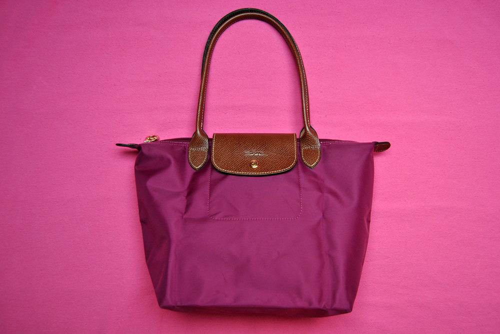 purple longchamp le pliage