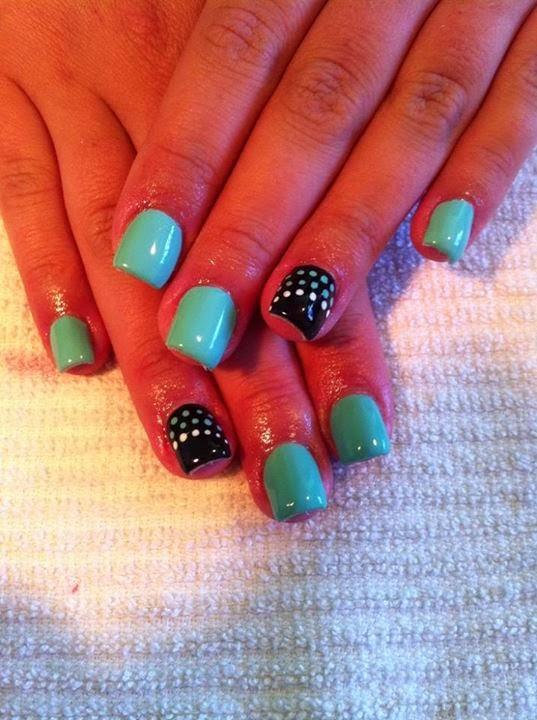 acrylic backfill then LED polish color up with simple dot nail art Pedicure-nails-care-natural-healthcare-Gel-Nail-Polish--LED-Nails-Manicure-Acrylic-Nails-Nail-Art-USA-UK