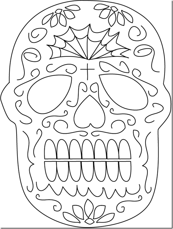 Day of the Dead Skull Mask Template