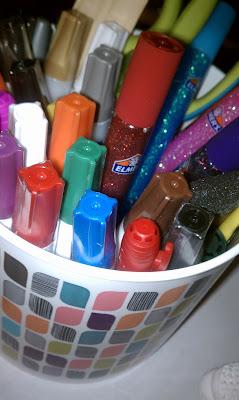 Elmer's, Glue 'n Glitter, makeover, fish, Painters Markers, 3D Glitter Pen