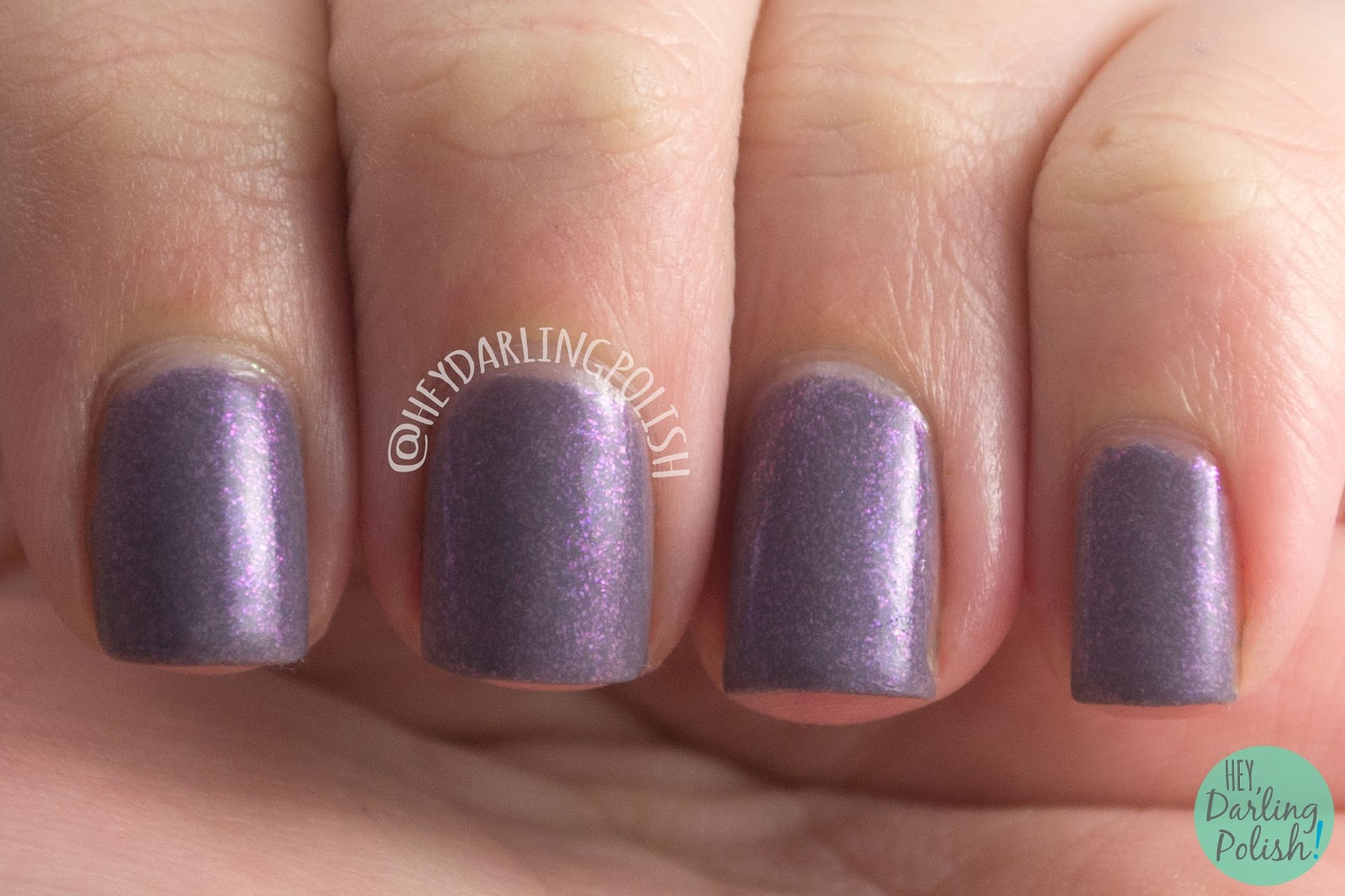 beauty within, purple, flakies, nails, nail polish, indie, indie polish, indie nail polish, hey darling polish, fair maiden polish, be your own heroine