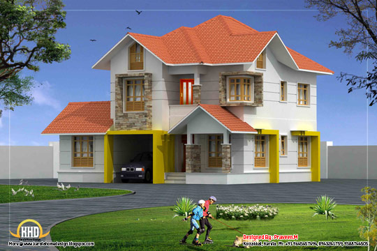 Sloping Roof house - 199 Sq M (2150 Sq. Ft) - February 2012