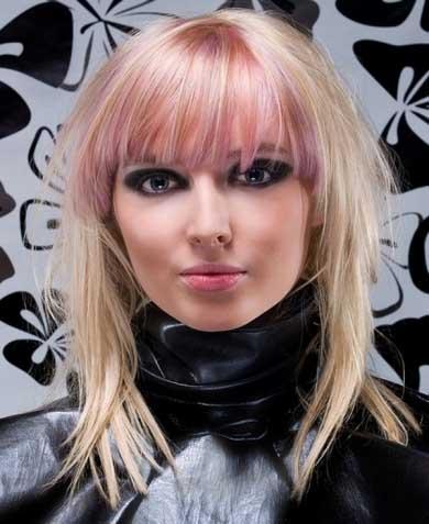 Pink Bangs Hair Style 2014