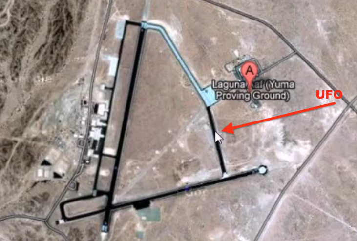 UFO SIGHTINGS DAILY UFO Caught On Google Earth Map Close Up In - Us military installation map for yuma proving ground
