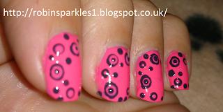 dotticure spots dots polkadots manicure pink grey blue