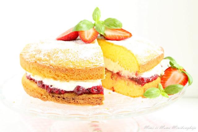 Epres bazsalikomos anyák napi torta