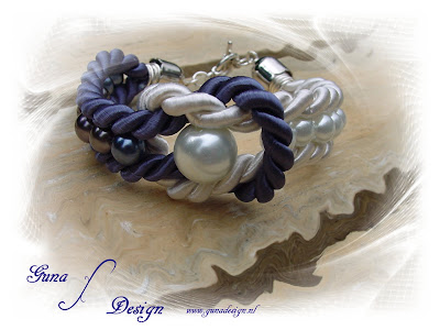 Tutorial Lady's Sailor bracelet from ropes and beads by Gunadesign