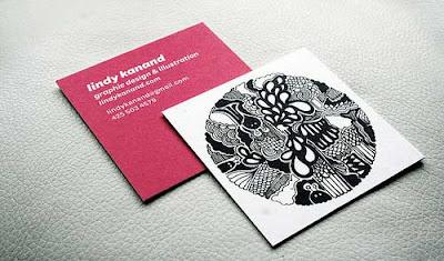 tarjetas de presentación cuadradas