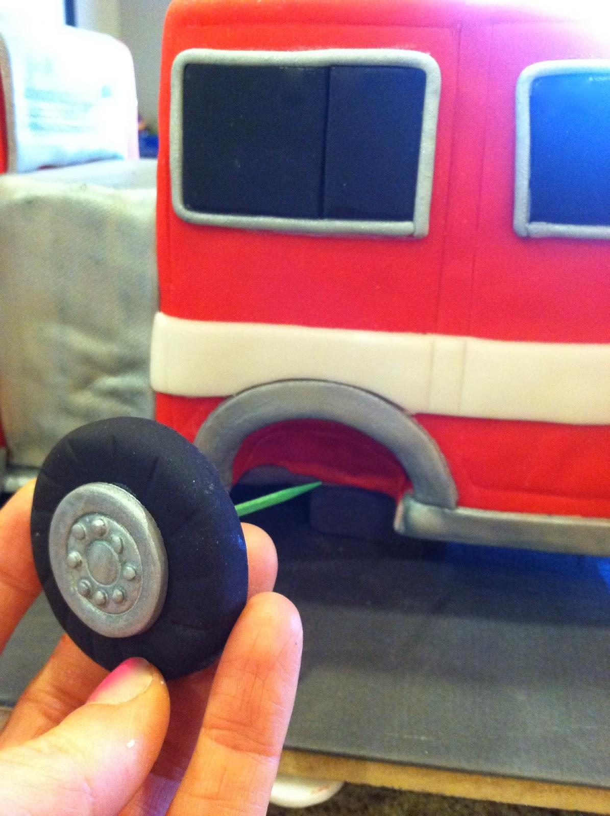 Sara Elizabeth Custom Cakes Gourmet Sweets 3d Fire Truck Cake Engines Diagram Traffic Cone Tutorial