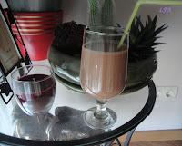 Batido de platano y chocolate