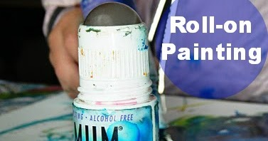Let The Children Play Painting With Roll On Deodorant