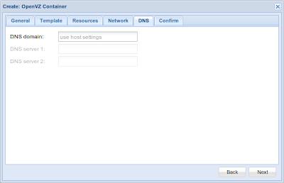 OpenVZ container DNS