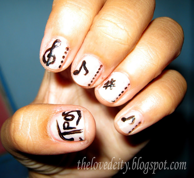 musical-inspired nail art paige