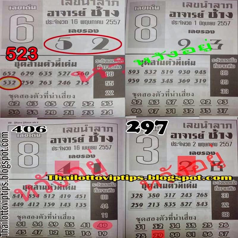 Thai Lotto Hot Exclusive paper 01-06-2014