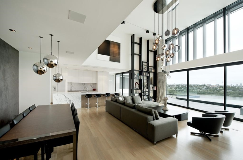 Living room in Lucerne Residence in New Zealand