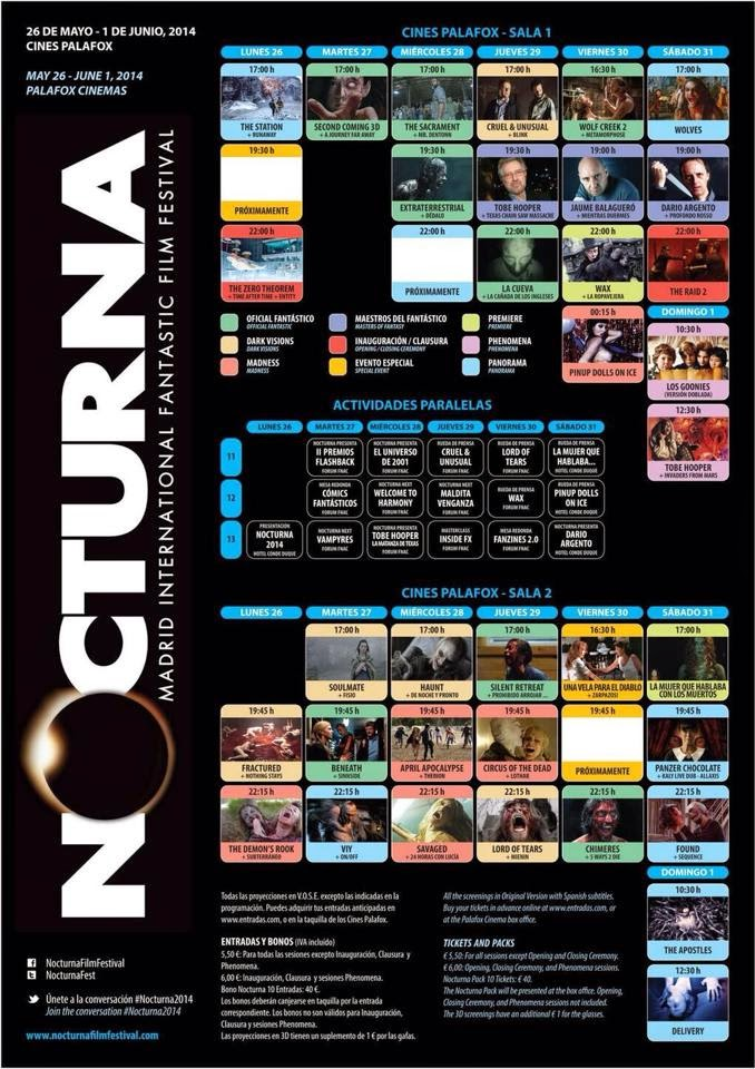¡Cartelicos!: Programación Festival Nocturna 2014.