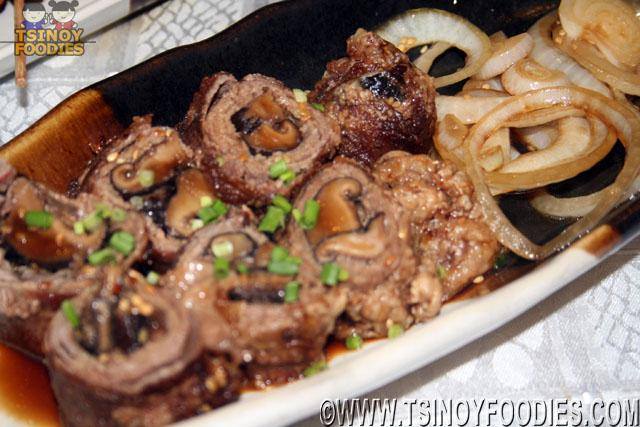 shitake beef rolls