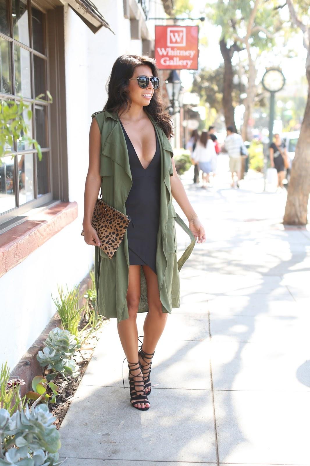 kardashian kollection shoes, claire vivier leopard clutch, how to wear little black dress
