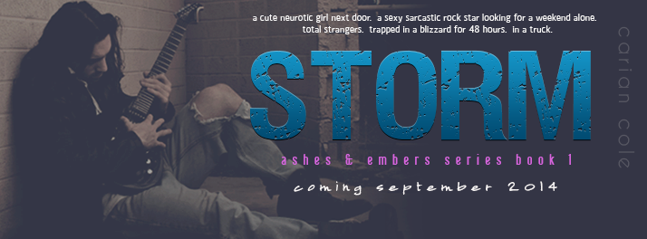 Cover Reveal + Giveaway – Storm by Carian Cole