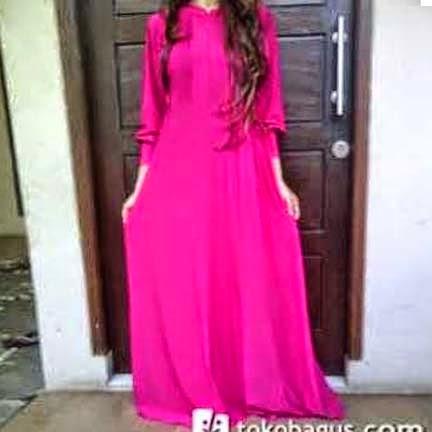 Gamis Jersey Umbrella Freesia Dress | azzahidahcollections.com