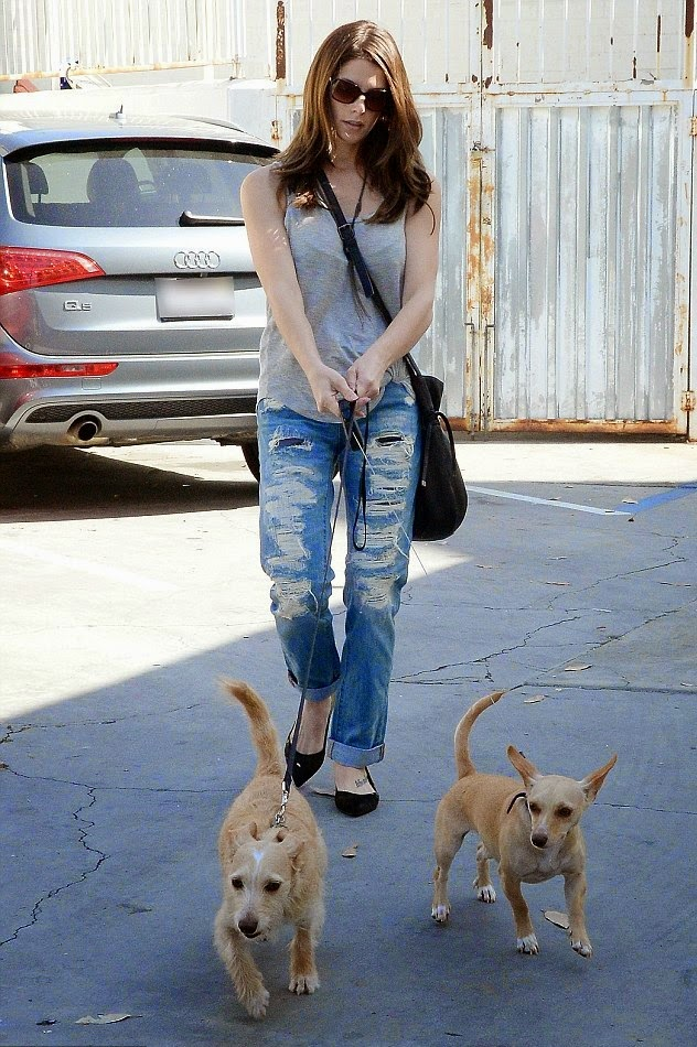 Ashley Greene with Kooba Bucket Bag