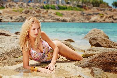 Sabina Zavodna sensual poses for Furstenberg sexy bikini models